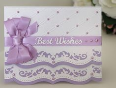 Kookaburra Crafts ~ via Wendy Schultz ~ Cards 1 Spellbinders Cards, Stampin Up Cards, Wedding Anniversary Cards, Wedding Cards, Purple Cards, August Challenge, Engagement Cards, Embossed Cards, Heartfelt Creations
