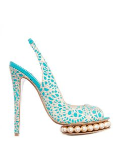 Fancy these? Nicholas Kirkwood skyhigh peep toe shoes with pearls! wantering.com