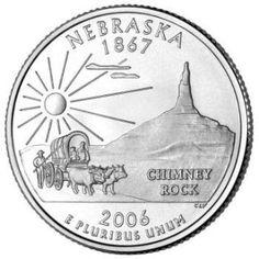 Reverse coin side (tails) of the Nebraska quarter.