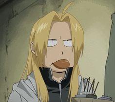 Edward may in fact be my spirit animal. | Fullmetal Alchemist Brotherhood | I love Ed with his hair down