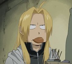 Edward may in fact be my spirit animal. | Fullmetal Alchemist Brotherhood | I love Ed with his hair down