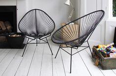 Of deze!! De zwarte acapulco stoelen