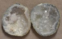 Tabasco Geode 1 Pair Cut and Polished Great for Jewelry 44285