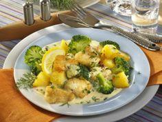 Fisch-Kartoffelpfanne in Senfsoße Rezept