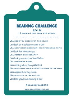 2018 Reading Challenge - www.readeatrepeat.net