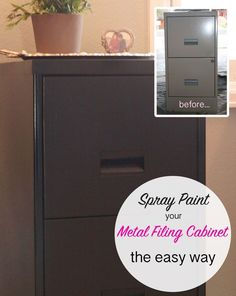 How To Spray Paint A Metal Filing Cabinet The Easy Way