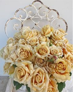 Add in a touch on antique roses to pick up gold/bronze hints