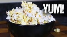 how to make kettle corn in the microwave - YouTube