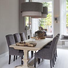 Binnenhuisarchitectuur grachtenpand landelijk wonen interieurarchitect (desiree dining table - made to mesure)