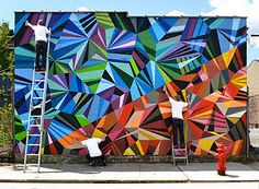 color theory mural idea sick! I wanna do something like this!