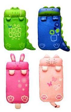 baby Cartoon Kids Sleeping Bag sack w/Pillow 140cm*60cm(cat rabbit dinosaur crocodile),spring,autumn,winter thick sleeping bags