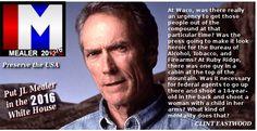 Clint Eastwood for MEALER2016