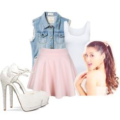 """Ariana Grande Style"" by charmandermomo on Polyvore"