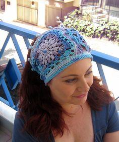 freeform crochet headband