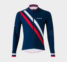 Winter Jersey Diagonal Blue