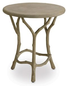 Really cool side table (I found this on www.burkedecor.com)