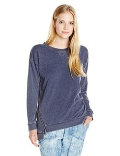 Element Juniors Duel Pullover Crew Burn Out Fleece Navy Small ** Amazon  most trusted e