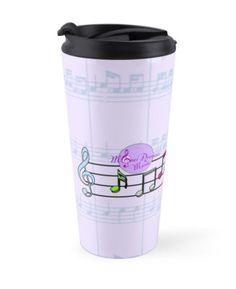 Soft Purple Sheet Music Notes #TravelMug #SheetMusicNotes #SoftPurple by #MoonDreamsMusic
