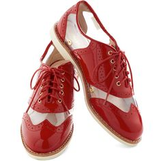 Rachel Antonoff for Bass New Orleans Attitude Shoe in Red ($129) via Polyvore