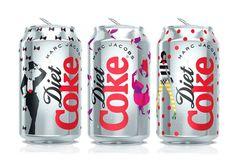 Las latas de Diet Coke diseñadas por #MarcJacobs nuevo Director Creativo de #CocaColaLight