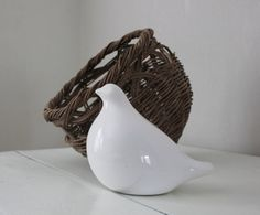 White Ceramic Dove by PlaceMichel on Etsy