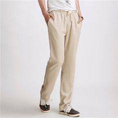 Men's Casual Breathable Loose Linen Pants