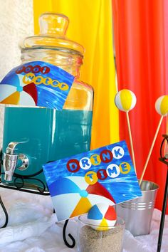 beach ball party thme | Beach Ball Birthday Bash via Kara's Party Ideas | Kara'sPartyIdeas.com ...