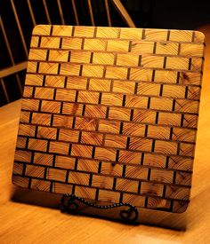 """Yellow Brick Road"" End Grain Cutting Board"