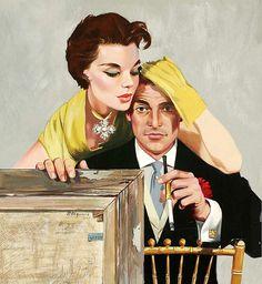 J Frederick Smith Vintage Romance, Vintage Ads, Vintage Posters, Frederick Smith, 60s Art, Pin Up, Love Scenes, Commercial Art, Pulp Art