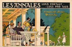Les Annales Newspaper Art Deco France 1920s - original vintage poster by Gervese listed on AntikBar.co.uk