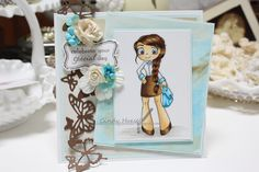 "Made by Cindy Hoesel for Whimsy Stamps. Time for Tea Designs ""City Girl"""