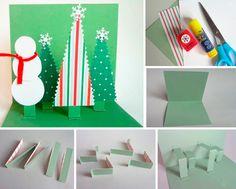 новогодняя объемная открытка своими руками Advent Calendar, Origami, Christmas Crafts, Paper Crafts, Holiday Decor, Home Decor, Decoration Home, Tissue Paper Crafts, Room Decor