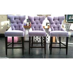Lavender Vintage Velvet Barstools. See more inspirations: http://www.brabbu.com/en/inspiration-and-ideas/