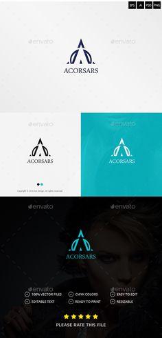 Letter A Logo by Exe-Design •Logo Template 100% •Re-sizable vector 100% •Editable text Easily customizable colors AI
