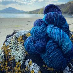 Hand dyed yarn. Grainne DK (Blue Faced Leicester) Hand Dyed Yarn, Leicester, Yarn Colors, Country Of Origin, Faeries, Sea, Face, Fairies, The Ocean
