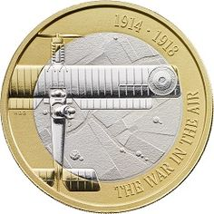 This commemorates the aviators of the First World War and their sacrifices. The edge inscription is 'THE SKY RAINED HEROES'. Silver Coins, Mint Coins, Buy Coins, Valuable Coins, Coin Design, Gold Money, Proof Coins, Challenge Coins, World Coins