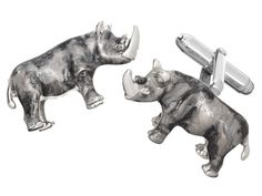 These are not to be messed with: Jan Leslie's Rhinoceros Cuff Links. $575