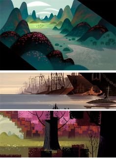 Samurai Jack (2001 - 2004) | background paintings... | animation news + art