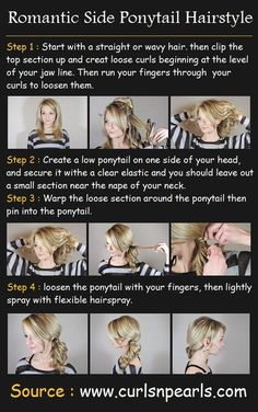 Romantic Side Ponytail Hair Tutorial