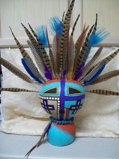Kachina Spirit Gourd Mask Southwest Decor Wall by walliemarrufo, $89.99