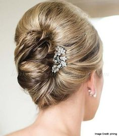 FRENCH TWIST Set all of your hair to one side. Use bobby pins to hold and clip the bottom part towards your nape. Pull the end of your hair strands up then twist inward. Use bobby pins to secure the twist then tuck the excess hair to the sides using bobby pins. Add accents if desired.