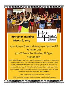 HOT HULA fitness® instructor training, March 8, 2015 in Glendale, Arizona.  #hothula # polyfit https://www.facebook.com/events/755622141188104