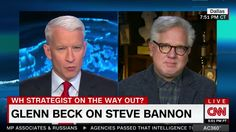 Conservative radio talk show host Glenn Beck joined CNN's Anderson Cooper Thursday to talk about President Donald Trump's reversal on several key issues, including NATO, foreign affairs, and White House chief strategist Steve Bannon.