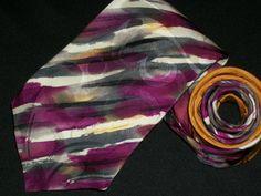 Vintage Robert Daskal Tie Hand Painted Abstrack by TheTieParadise