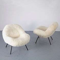 German Club Chairs with Sheepskin by Fritz Neth, Set of 2 Room Interior, Home Interior Design, Home Furniture, Furniture Design, Automotive Furniture, Automotive Decor, Handmade Furniture, Modern Furniture, Lounge Chair Design