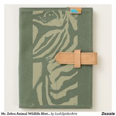 Mr. Zebra Animal Wildlife Abstract Original Art Journal