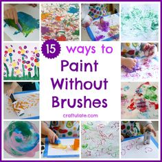 15 Ways to Paint Without Brushes from Craftulate