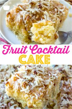 Homemade Fruit Cocktail Cake recipe from The Country Cook #cake #southern #fruitcocktail #coconut #pecans #fruit #summer #fromscratch #easy #recipes #ideas