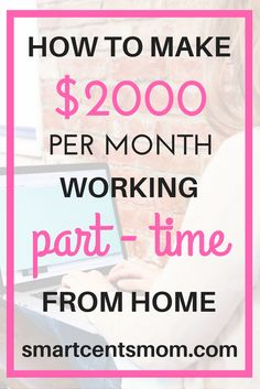 Become a Virtual Assistant and  make $2000 or more per month! Virtual assistant jobs are in high demand right now. Help people in their business and start working from home as a virtual assistant! This is such a great job for work at home moms.   via @https://www.pinterest.com/smartcents/