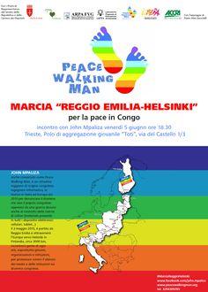 Conosciuto come #PeaceWalkingMan, John Mpaliza è un #attivista congolese che da anni realizza lunghe #marce attraverso l' #Italia e l' #Europa, per portare a conoscenza dell'opinione pubblica la #devastazione provocata da anni di #conflitti nella Repubblica Democratica del #Congo.
